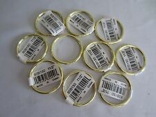 "Lot of 10 Gold Metal Brass Macrame Craft Dreamcatcher Rings 1-1/2"" Inch Diameter"