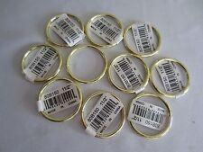 "Lot of 10 Gold Metal Brass Macrame Craft Dreamcatcher Rings 1-1/2"" Inch Diameter"
