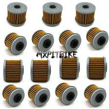 15x Oil Filter For HONDA CRF150R CRF150F CRF250R CRF250X CRF450X CRF450R TRX450R