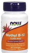Now Foods Methyl B12, 5000 mcg, 60 Lozenges FAST SHIPPING