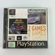 PS1 Need for Speed Porsche 2000 / Moto Racer 2, Brand New & Factory Sealed