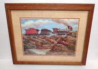 Jim Rozzi V. & T. R. R. RAILROAD J. W. BOWKER TRAIN STEAM LOCOMOTIVE ART PRINT