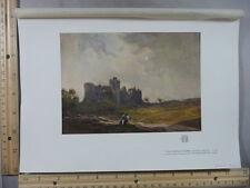 Rare Antique Orig 1905 Coming Storm Carew Castle Tatton Winter Litho Art Print