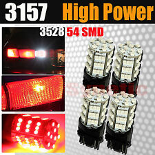 4x 3157/3156 Red SMD LED Brake Stop Tail Lights Bulbs