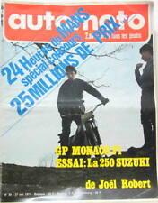 1971 AUTOMOTO JOURNAL GP MONACO FORMULE SUPER VEE SUZUKI CROSS 250 PARLOTTI F3