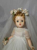 "Vintage Madame Alexander Elise Bridal Doll 15"" Tall  1950's"