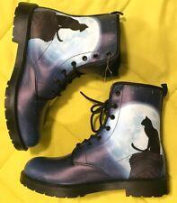 Blue Sky Cat Combat Boots Lace-up Women's 9 Men's 7 Gothic Steampunk