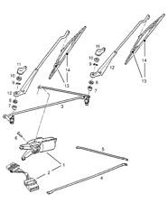 Genuine VAUXHALL/OPEL CORSA-un tergicristallo Rod, la connessione a lungo e corto