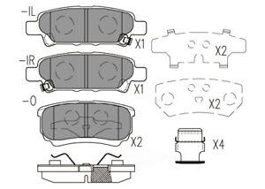 Disc Brake Pad Set-Premium Ceramic Pads Rear Dash 4 Brake CFD1037