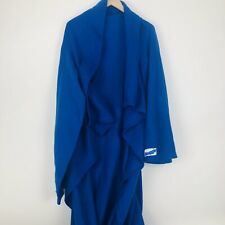 Snuggie Fleece Blanket With Sleeves Blue One Size Adult