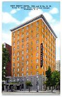 "Mid-1900s ""New"" Ebbitt Hotel, 10th and H St., Washington, DC Postcard"
