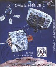 Sao Tome e Principe Block 221 gestempeld 1989 World Telecommunication Day
