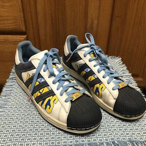 Adidas 2006 Superstar 1 NBA Denver Nuggets Basketball Shoes Rare New DS Mens 11