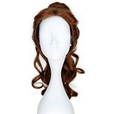 Miss U Hair Princess Wig Long Curly Brown Belle Cosplay Costume Wig Claw Pony...