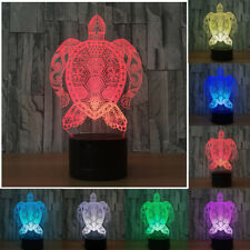 Kid's Gifts Table Lamp Sea Turtles Touch switch 3D LED 7-Color Night Light