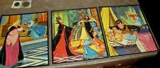 LOT 3 WALT DISNEY'S SLEEPING BEAUTY PICTURE PUZZLES WITH BOX BY WHITMAN 1958
