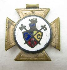 Antique Gold Filled Enamel FCB Knights of Pythias Pocket Watch Pendant Fob