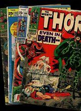 Thor 150,166,193 ~ Avengers 30 (1966-71 Marvel) *4 Books* Stan Lee! Jack Kirby!