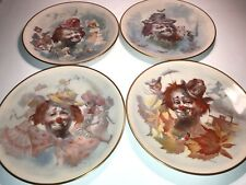 Complete Set Gorham Falling in Love Clown Four Seasons Plates Limited Edition