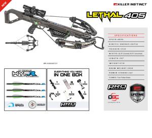 New 2021 Killer Instinct Lethal 405 4x32 Scope Crossbow Package