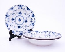 3 Deep Plates #1170 - Blue Fluted - Royal Copenhagen - Full Lace