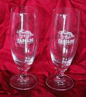 CASCADE PREMIUM LAGER 320ML BEER GLASSES x 2