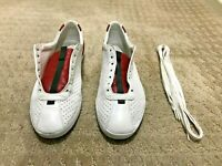 Gucci #407354 Napa Moorea Perforated Sneaker Red & Green Exotic Skin Tongue 8G