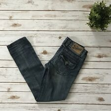 Vigoss Studio Women's 1/2 The Park Straight Slim Distressed Jeans Flap Pocket A1