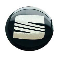 4 x 55mm aufkleber Embleme für Seat radkappen nabendeckel nabenkappen Silikon 3D