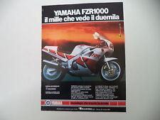 advertising Pubblicità 1987 MOTO YAMAHA FZR 1000
