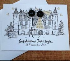 Personalised Button Head Special Occasion Wedding engagement New Home Cards