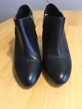 Vince Camuto Black Leather Stiletto Heels Ankle Boots Size 7.5  37 1/2  M