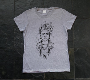 Frida Kahlo, Mexican Painter, surrealist, art - woman's SCREEN PRINTED T-SHIRT