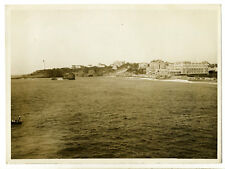 Biarritz 1930 : plage du Miramar, du Phare à l'Hôtel du Palais - Photo Vintage