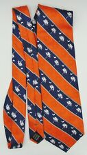 Men's Necktie Tie South Carolina Orange Blue Palmetto Tree Preowned Sturbridge