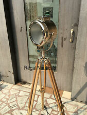 Marine Searchlight Nautical Floor Photography Spot Light Lamp Wood Floor Tripod
