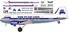 SMB Stage Douglas DC-3 C-47 airliner decals for Minicraft 1/144 kits