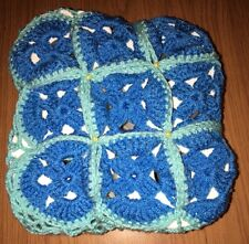 Hand Made Toilet Paper Cover Blue & Light Blue - Fast Shipping !
