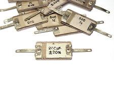 10x Monette MICA-Condensateur 200 pf, vintage pure Mica capacitors, nos