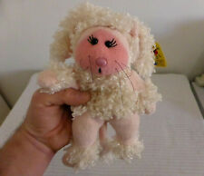 "BEANIE KIDS plush toy ""FIFI THE POODLE BEAR"" pink white"