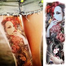 Tribal Realistic Big Full Arm Temporary Tattoo Sleeve for Women & Men Fake Tatoo
