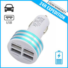 Best 4x Port Triple USB A+ Auto lader Car Charger Oplader Chargeur Voiture Blue