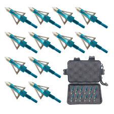 12PK 3 Fixed Blade Archery Hunting Broadheads 100 Grain Arrow Head US