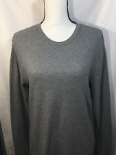 public opinion shirt Men Gray Scoop Neck Cotton long sleeves  Nordstorm M
