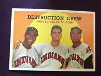 1959 Topps Destruction Crew #166 Minoso,Colavito,Doby Cleveland Indians