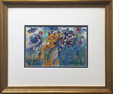 "LeRoy Neiman ""Winter Olympics Lake Placid Olympics"" CUSTOM FRAMED ART Hockey USA"