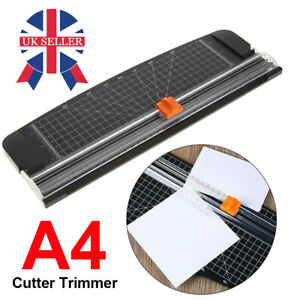 Home Office Arts Card Ruler Cutter Trimmer A4 Photo Rotary Paper Guillotines New