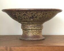 STEVEN HILL - Footed Bowl Compote -Studio Pottery Farmhouse Wabi Sabi