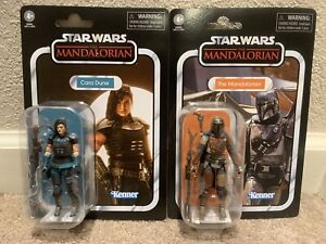 "SET OF 2 STAR WARS VINTAGE COLLECTION CARA DUNE & THE MANDALORIAN 3.75"" FIGURES!"