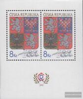 Tschechien Block1 (kompl.Ausg.) postfrisch 1993 Wappen